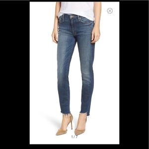 Mother Denim The Looker Crop Step Ankle Fray 26